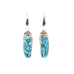 BLUE KINGMAN TURQUOISE and Sterling Earrings Southwest