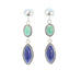 MIDNIGHT BLUE LAPIS and Fox Turquoise Earrings Marquis