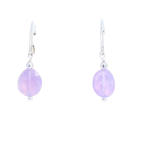 LAVENDER QUARTZ EARRINGS Faceted Sterling Brazil
