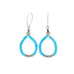 Sleeping Beauty Turquoise Earrings Jacla Style with Sterling Beads
