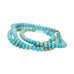 FOX MINE AMERICAN TURQUOISE BEADS Teal Cream Rondelle 6mm