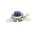 Sugilite Clasp Sterling Double Dot Style 8mm Cushion