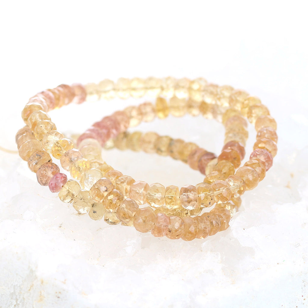 IMPERIAL TOPAZ Beads Faceted Rondelle 5mm 16""