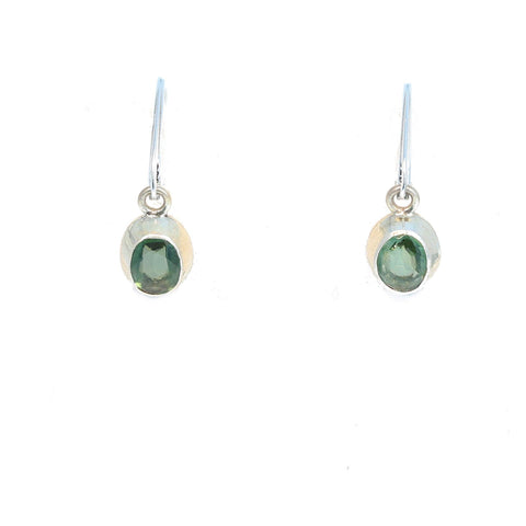 Ethereal Green APATITE FACETED Earrings Sterling