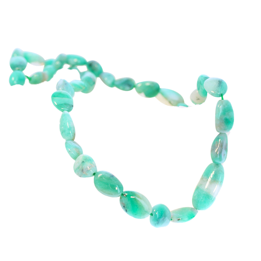 EMERALD BEADS POTATO SHAPE 9-21mm