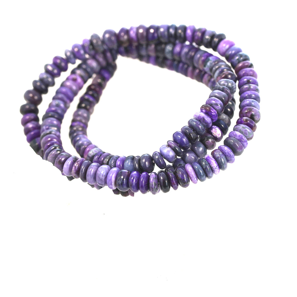 SUGILITE BEADS RONDELLE 4.8-5.7mm
