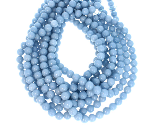 PERUVIAN ANGELITE 10mm ROUND BEADS 16""