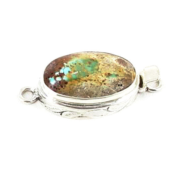 ARMENIAN TURQUOISE STERLING SILVER CLASP #8 - New World Gems