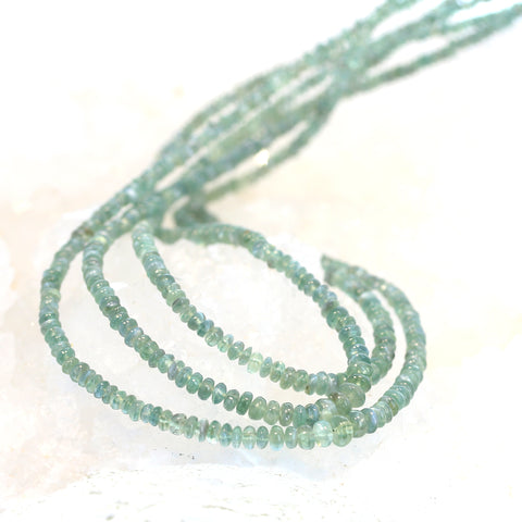 AAA ALEXANDRITE BEADS Smooth Rondelles 2.3-4mm Light Green 13.25""