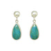 PERUVIAN BLUE OPAL SHELL Sterling Silver Earrings