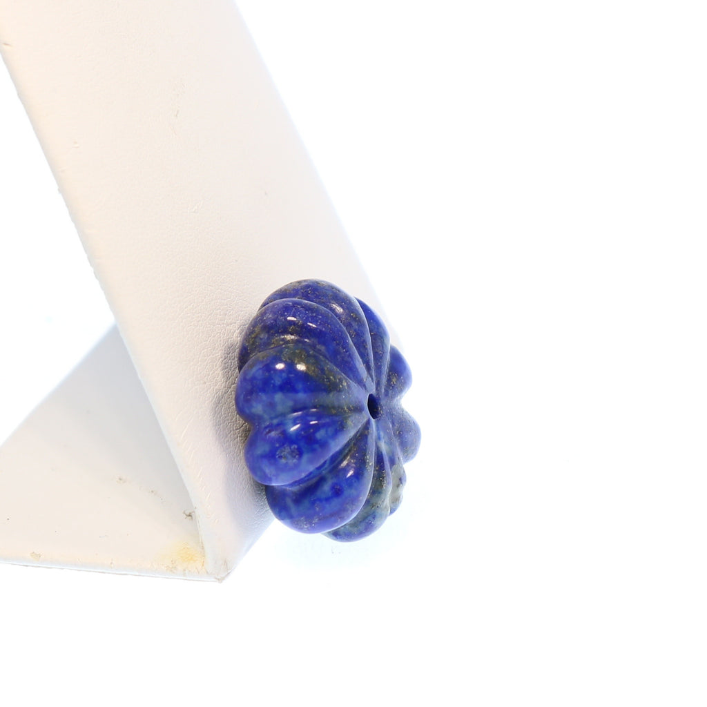 CARVED LAPIS CENTERPIECE Flower 29x13mm