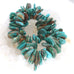 FOX TURQUOISE BEADS Large Petal Pendants