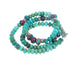 GEM SILICA CHRYSOCOLLA NECKLACE STERLING SILVER 16.5""