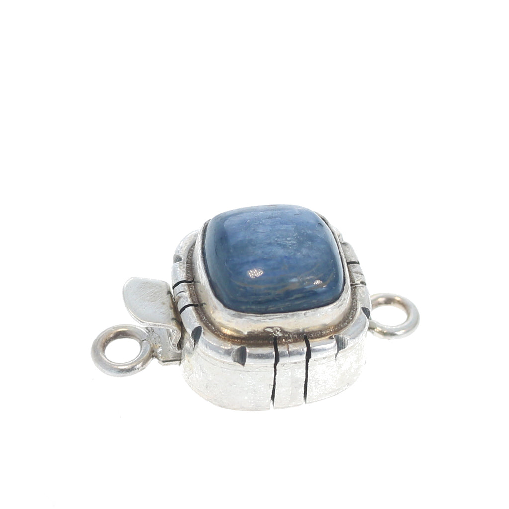 KYANITE CLASP STERLING Cushion 11mm Southwest