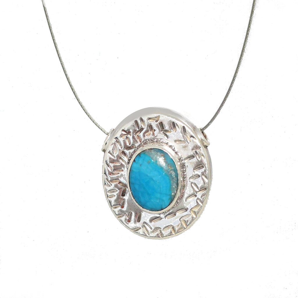 CHRYSOCOLLA PENDANT Bead Sterling Component