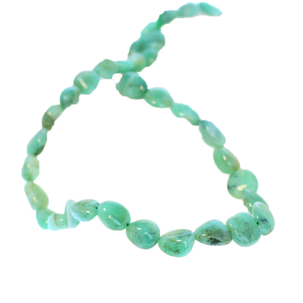 EMERALD BEADS POTATO SHAPE 10-12mm