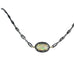 DIAMOND Pendant OPAL and Antiqued Sterling Necklace 16""