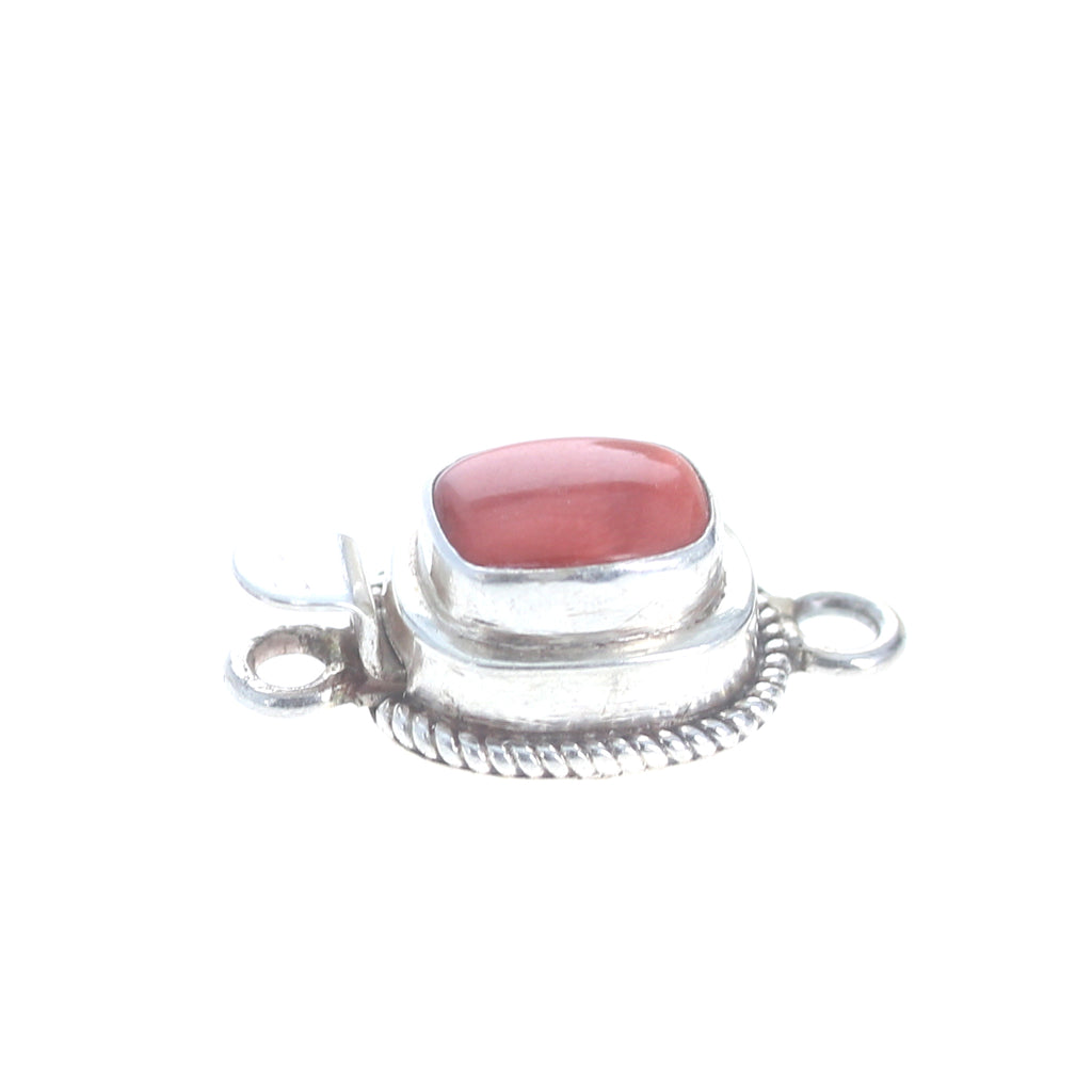 SPINY OYSTER Clasp Red or Orange Cushion 10x8mm