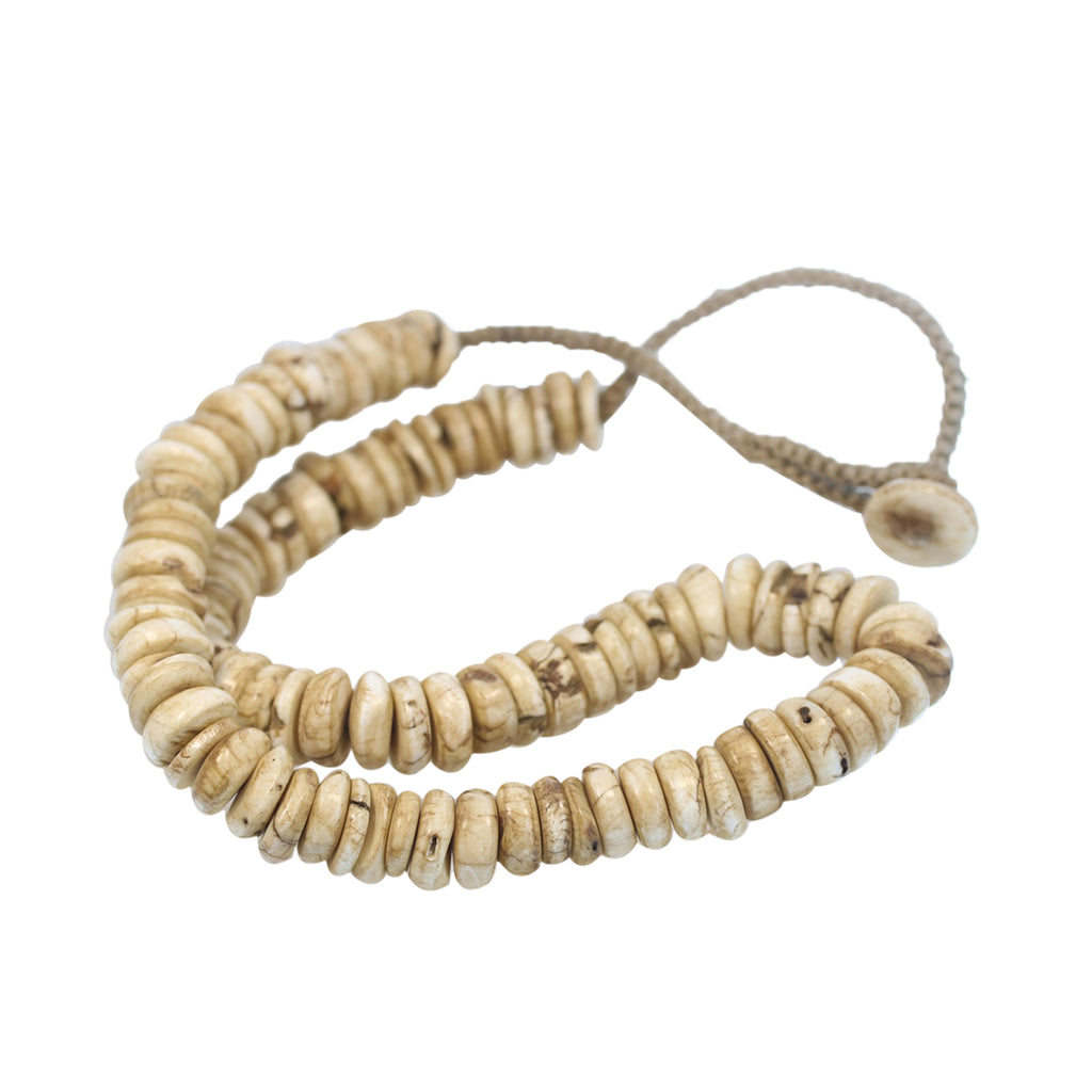 Naga Shell BEADS 11mm Disc Shaped Necklace