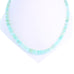 BLUE PERUVIAN OPAL Necklace Sterling Silver Rondelles 18""