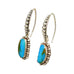 PERUVIAN OPAL EARRINGS Dot Design Sterling Silver