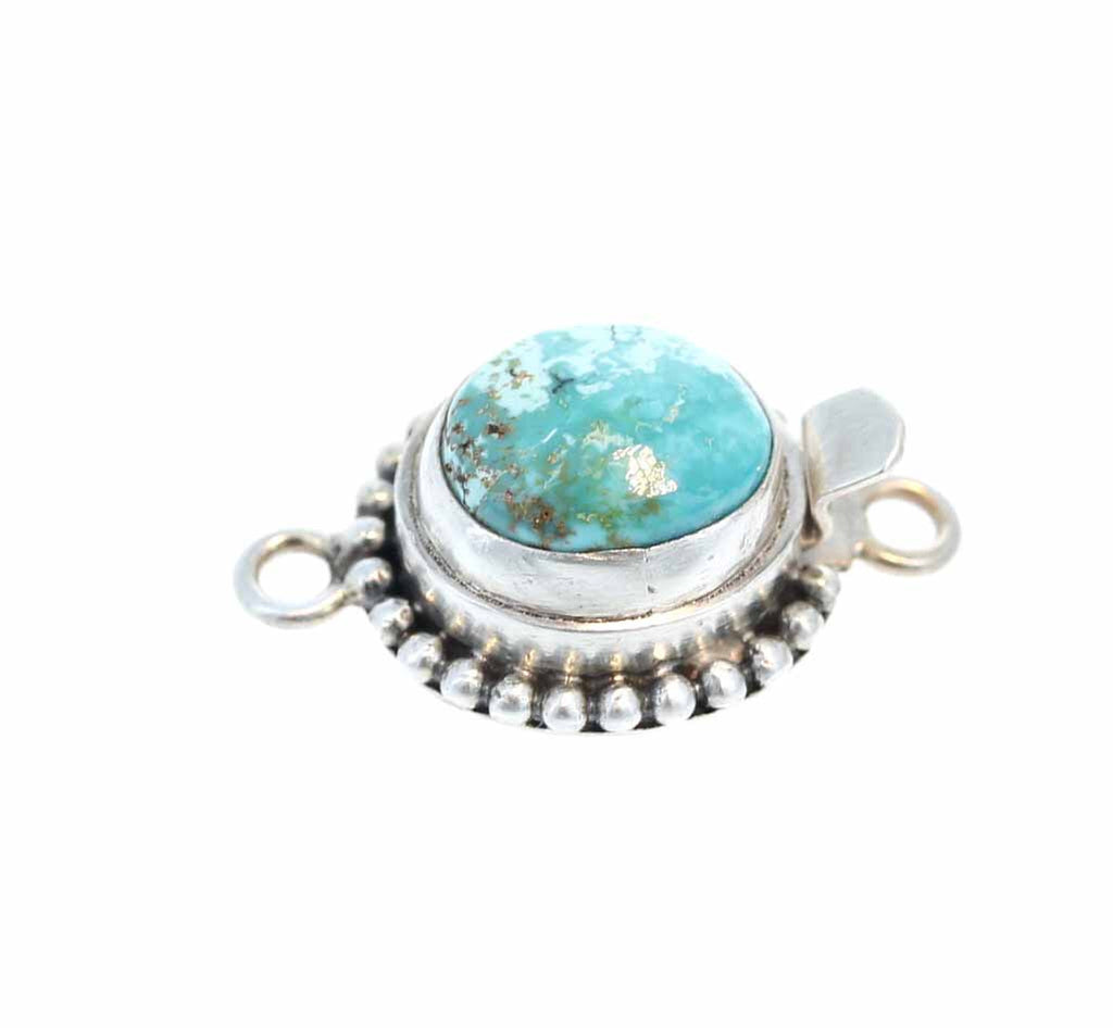 BLUE MOON TURQUOISE Clasp Robins Egg Blue Ball Design