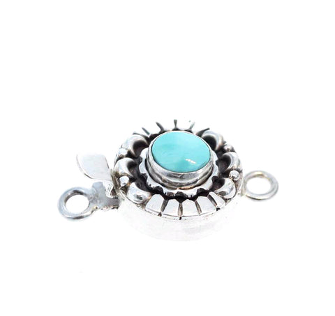 BLUE MOON TURQUOISE Clasp Robins Egg Blue 7mm Moon Design