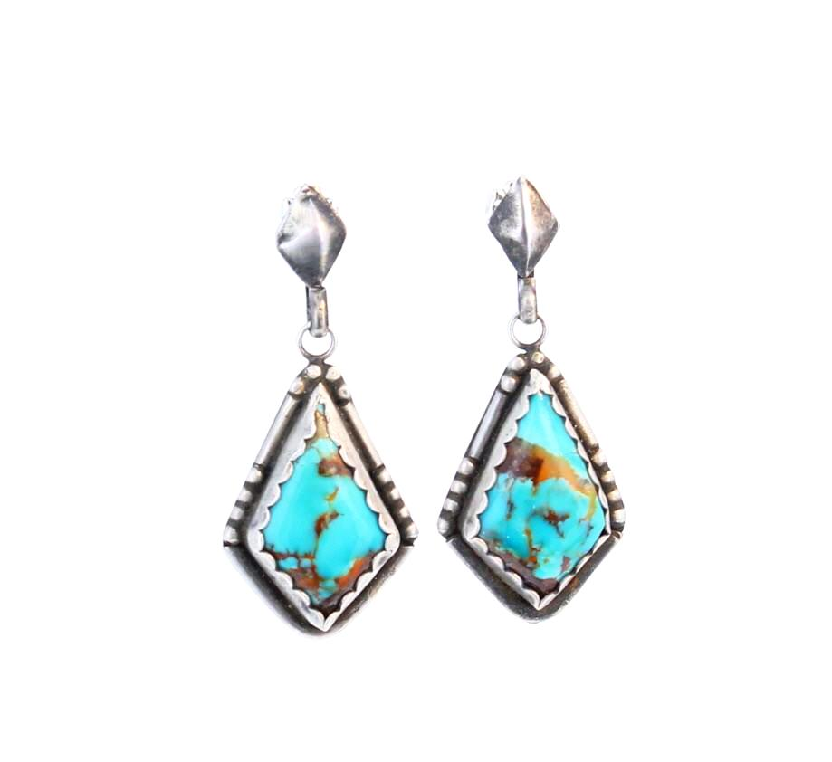 BEAUTIFUL KINGMAN TURQUOISE Earrings Sterling Blue