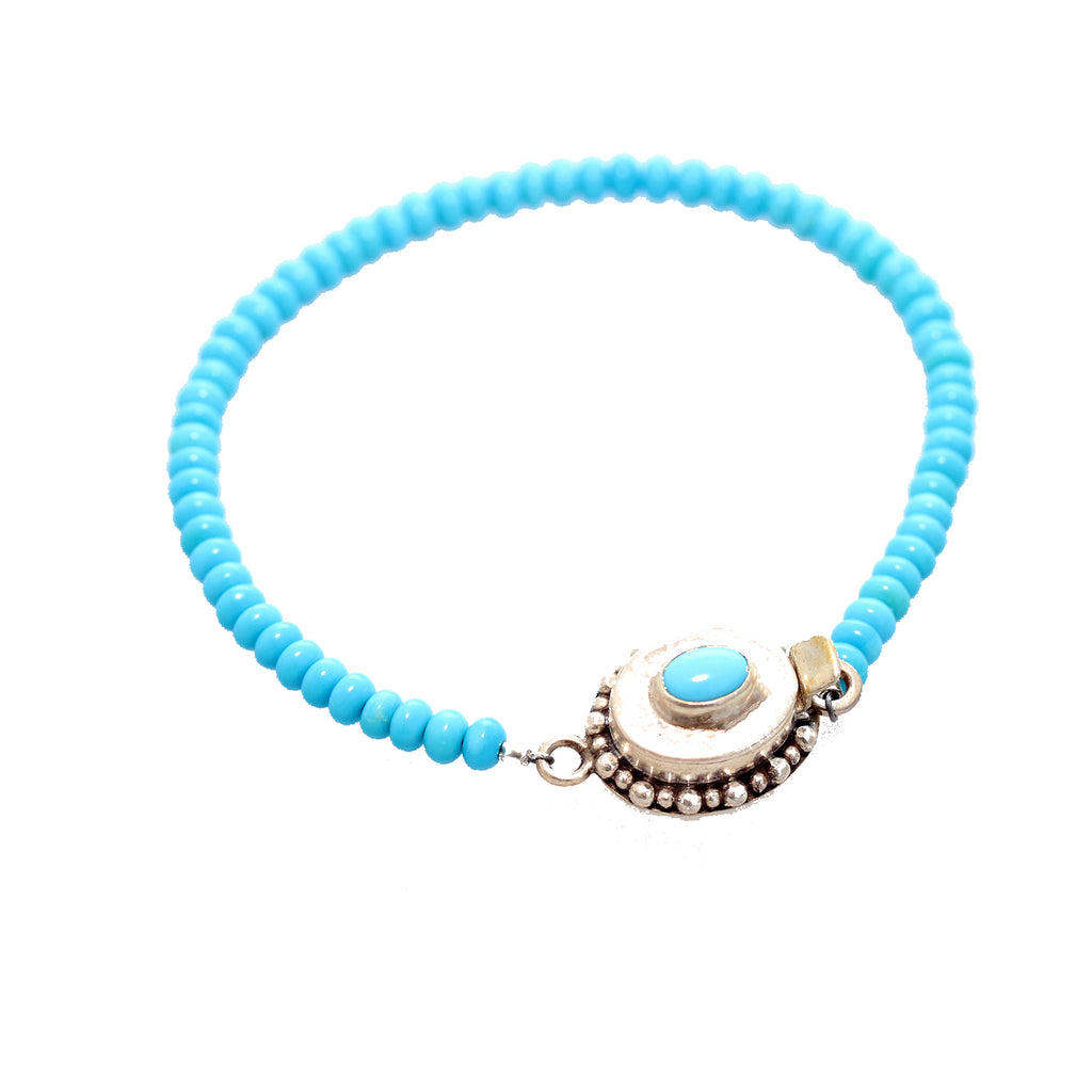 SLEEPING BEAUTY TURQUOISE Bracelet 4mm Sterling