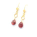 AAA ANDESINE 18K Gold Earrings Teardrops