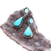 KINGMAN TURQUOISE and Australian Opal Earrings Sky Blue