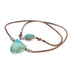 "TURQUOISE SHIELD SHAPED Pendant Necklace Fox Leather 18"" Mens or Womans"