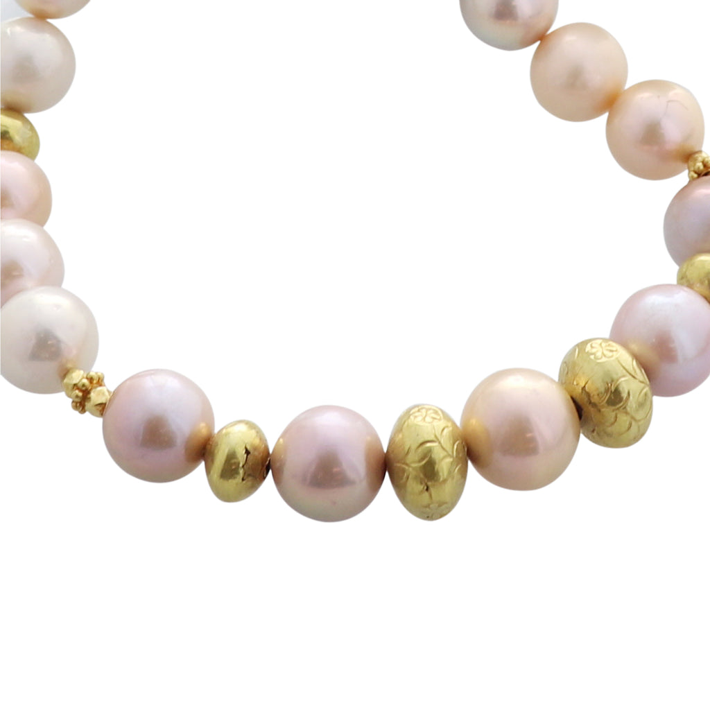 Spectacular SOUTH SEA Pearl Necklace 18k Gold 19""