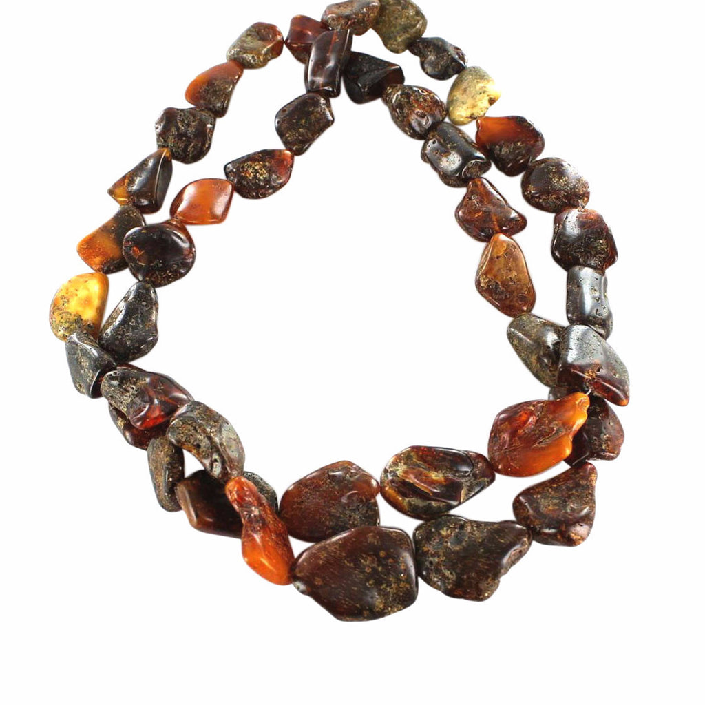 BALTIC AMBER BEADS 20 to 30mm 19""
