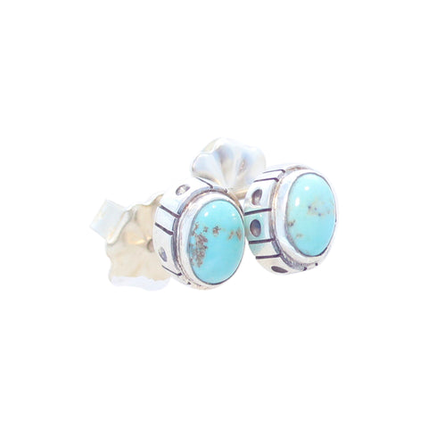 WHITE CREEK TURQUOISE Earrings Sterling Post Style