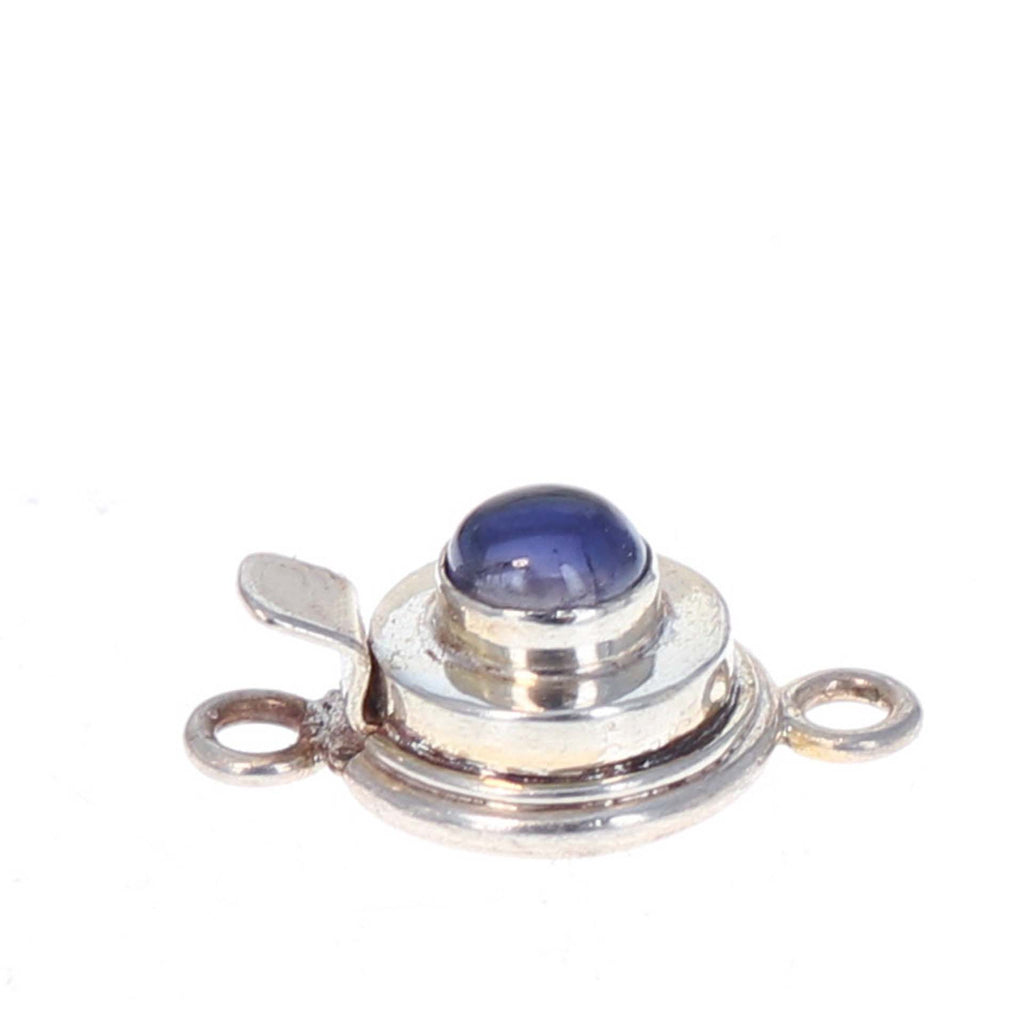 Iolite Clasp Round 6mm Sterling Classic Design