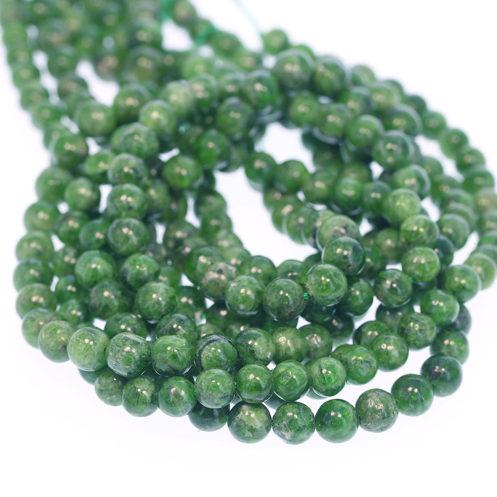 CHROME DIOPSIDE BEADS 6mm Round