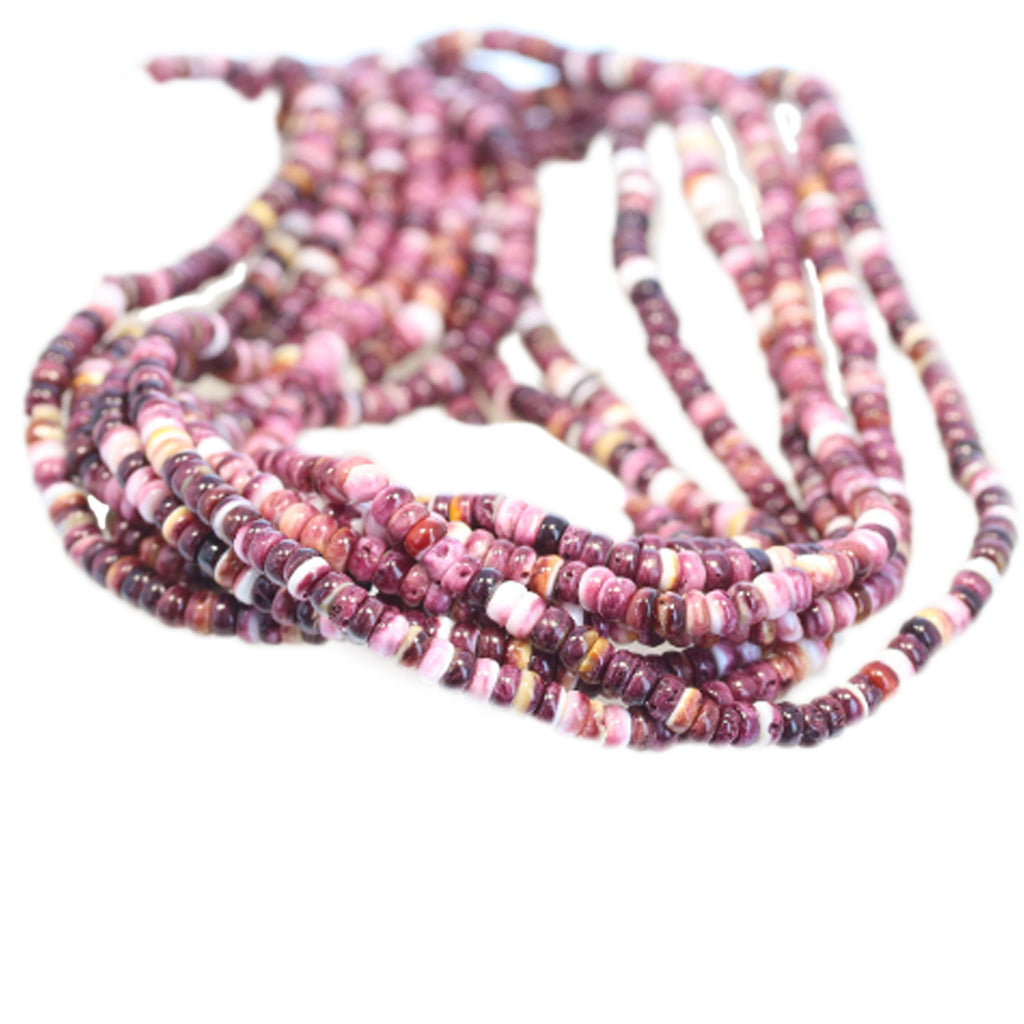 PURPLE SPINY OYSTER Beads Rondelles 4mm 16""
