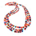 "SPINY OYSTER BEADS Rondelles Fiesta Colors Mixed 18"" Reds"