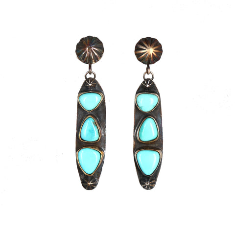 SIERRA NEVADA Turquoise Earrings Southwest Sterling