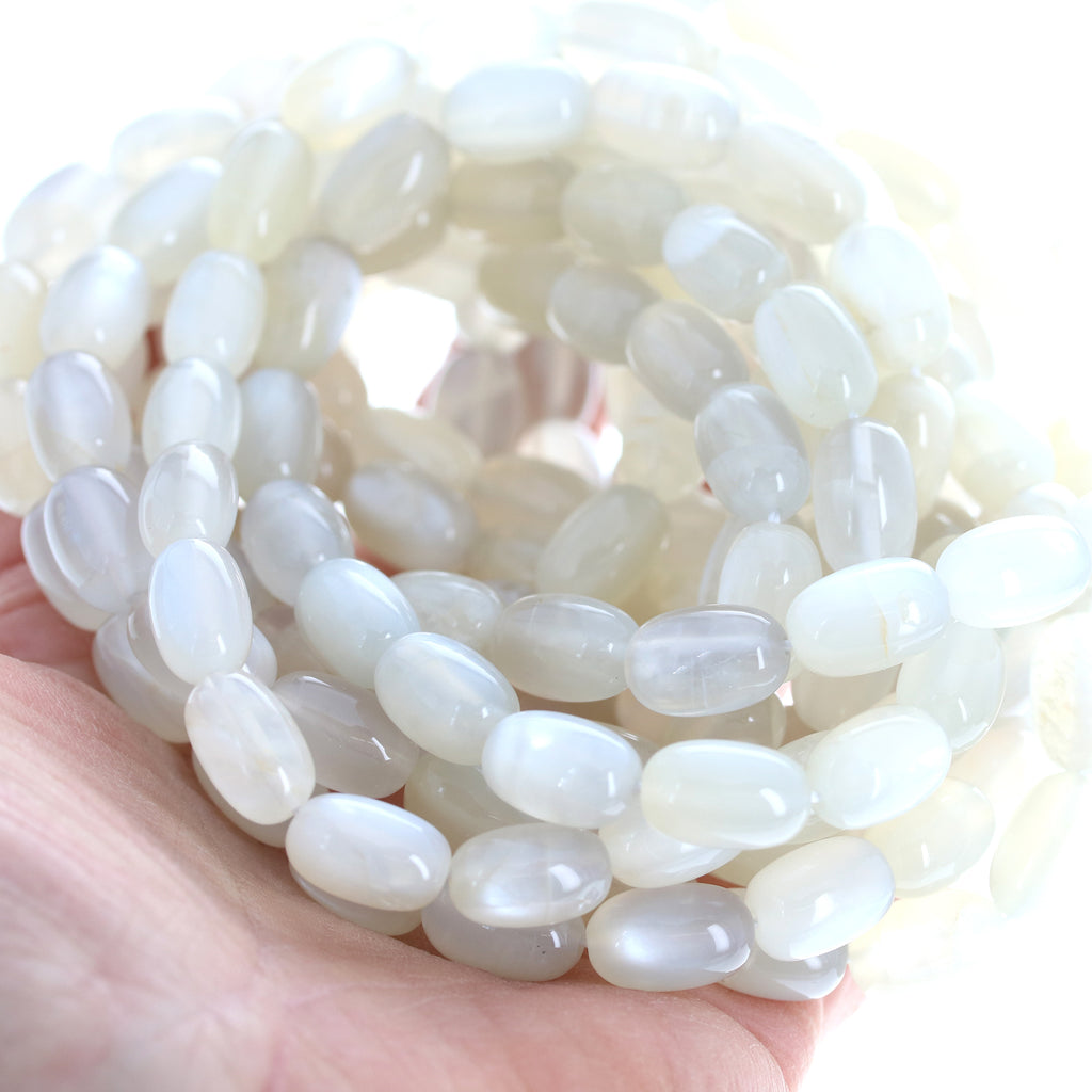 MOONSTONE Beads Feldspar Beads Potato Shape 8x12mm 16""
