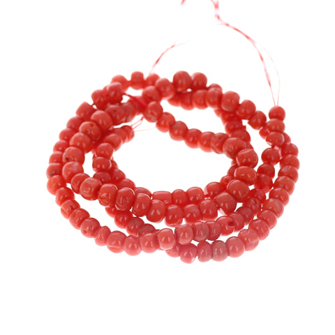 AAA Bright Red ITALIAN CORAL Beads Rondelles 5.5mm