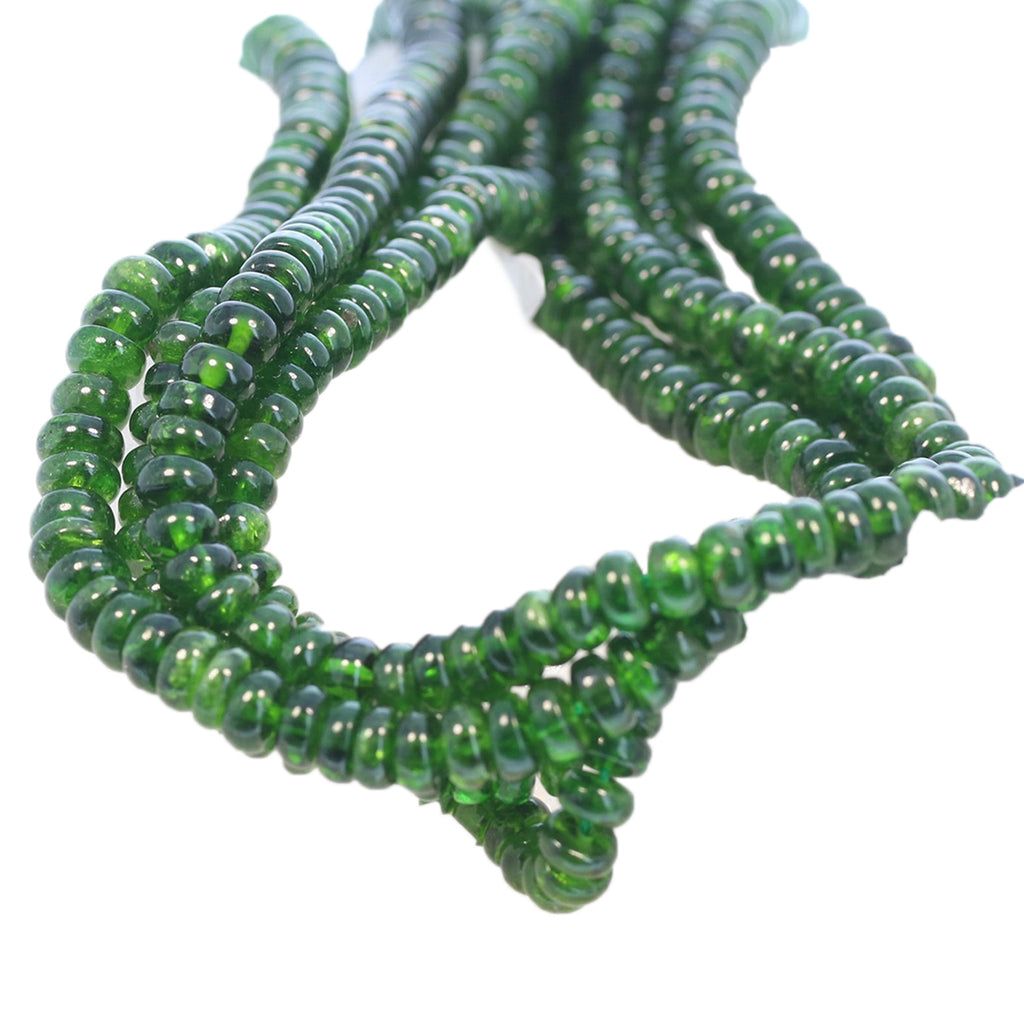 CHROME DIOPSIDE Beads Rondelles AAA 6.5mm