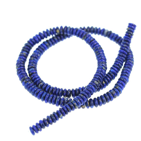 LAPIS BEADS 5mm Rondelles Buttons