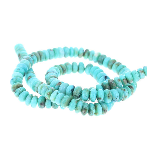 GEM SILICA BEADS Rondelles 7-7.5mm Rich Aqua