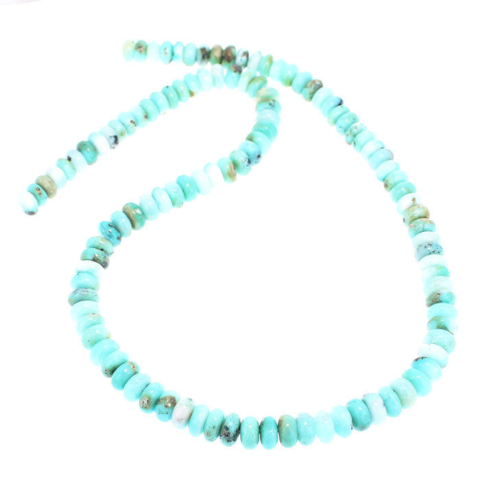 GEM SILICA BEADS Rondelles 7-7.5mm Light Sky Blue