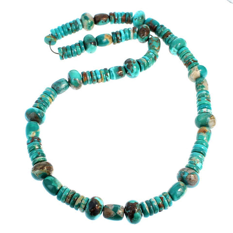 FOX TURQUOISE BEADS Buttons Rondelles 8-12mm