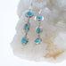 CARICO LAKE TURQUOISE Earrings 3 Stone Southwest Style