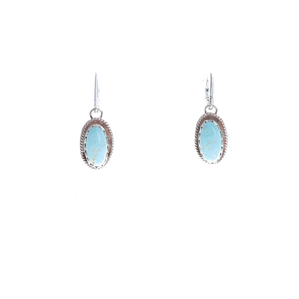 WHITE CREEK TURQUOISE Earrings Sterling Southwest Chic