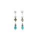 CARICO LAKE Turquoise Earrings Navajo Pearls Sterling